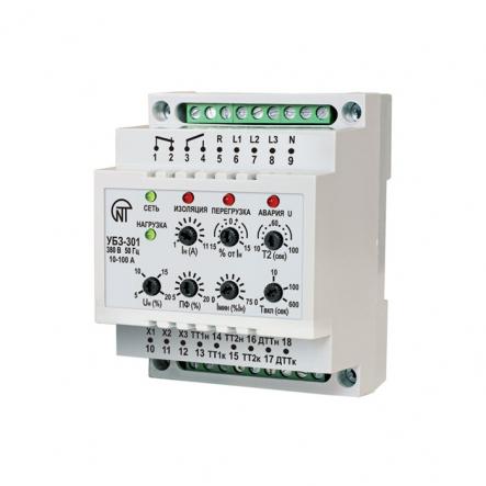 Универсальный блок защиты асинхронных электродвигателей Новатек-Электро УБЗ-301 ток 5-50А - 1