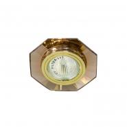 Светильник точечный  MR-16 G5.3 50W коричневый/золото