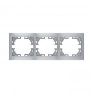 Рамка 3-я горизонтальная металл серый без вставок MIRA