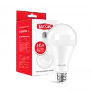 Лампа MAXUS 1-LED-784 A80 18W 4100K 220V E27