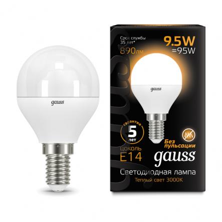 Лампа Gauss LED Black G45 9.5W 3000K E14 - 1