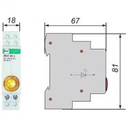 Сигнальная арматура модульная ЛСМ Промфактор ВК832 Ж светодиодная желтая 220В