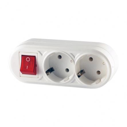 Двойник с заземлением и кнопкой FETIH - 1