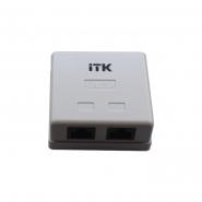 Розетка настенная инф. ITK  RJ45, кат.5Е UTP, 2-порта ИЕК