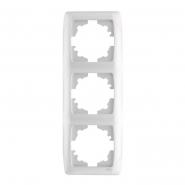 Рамка тройная вертикальная белый VIKO Серия CARMEN