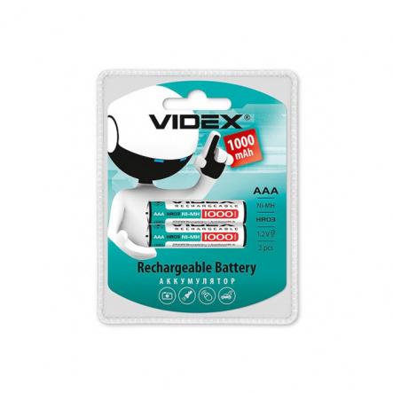 Аккумулятор R03 AAA 1000mA Ni-Mh VIDEX - 1
