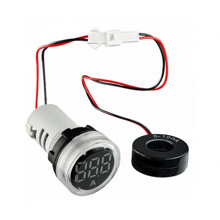Вольтметр круглый ED16-22VD 30-500В АС (белый) врезной монтаж - 1