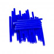 Термоклей тонкий диам.-7мм, L: 100мм, синий, 1кг.