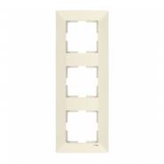 Рамка 3-я вертикальная крем MERIDIAN
