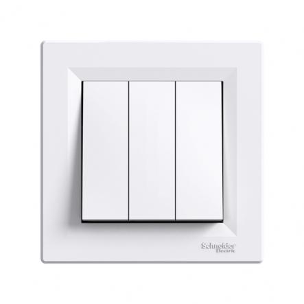 Выключатель 3-кл. самозаж. белый ASFORA - 1