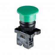 """Кнопка LAY5-EC31""""грибок"""" (d 40 мм)  """"Старт"""" зелёная АСКО-УКРЕМ"""