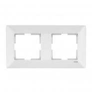 Рамка 2-я горизонтальная белая MERIDIAN