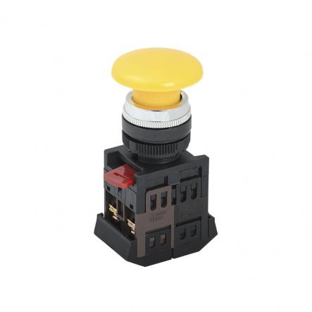 "Кнопка AEА-22 ""Грибок"" жёлтая d22мм 1з+1р ИЭК - 1"