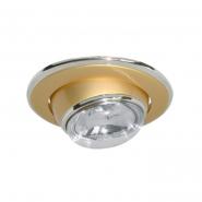 Светильник точечный  R-50 жемчный золото/хром D/L Е14