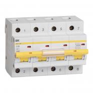 Автоматический выключатель IEK ВА47-100 4p 25A С