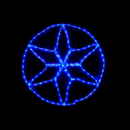 Гирлянда внеш_DELUX_MOTIF_Star 6 кон. 60*60см 13 flash синий IP44 EN