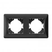 Рамка х2 горизонтальная черный графит  VIDEX BINERA