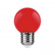 Лампа LED LB-37 G45 1W 230V E27 красная Feron