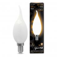 Лампа Gauss LED Filament Свеча на ветру OPAL E14 5W 420lm 2700К
