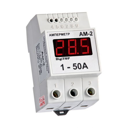 Амперметр АМ-2 1-50A DIN цифровой DigiTOP - 1