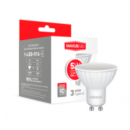 Лампа LED MR16 5W 4100K 220V GU10 Maxus