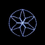 Гирлянда внеш_DELUX_MOTIF_Star 6 кон. 60*60см 13 flash белый IP44 EN