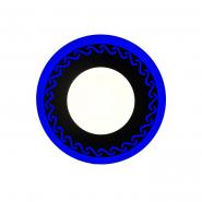 """Панель LED Lemanso """"Завитки"""" 6+3W с синей подсветкой 540Lm 4500K 160*30mm 175-265V / LM539 круг"""