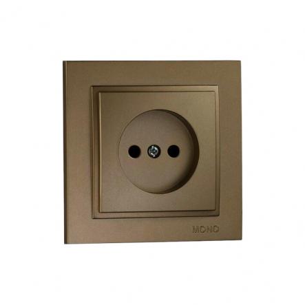 Розетка 1-я без заземления , Mono Electric, DESPINA (бронза) - 1