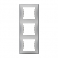 Рамка 3-я вертик. алюм Sedna