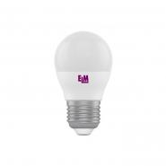 Лампа LED сфера 4W PA10 E27 4000K D45 ELM