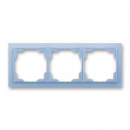 Рамка тройная Neo белый/синий лед