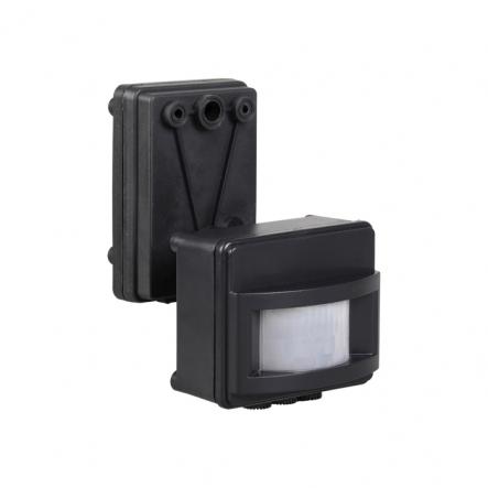 Датчик движения IEK ДД 017 чёрный 1100 Вт радиус 120град.,12м IP44 арт. LDD13-017-1100-002 - 1