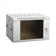 """ITK Шкаф настенный 19"""" LINEA W, 9U, 600x450 мм, стеклянная передняя дверь, серый"""