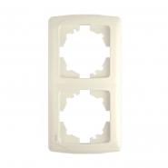Рамка  двойная вертикальная крем VIKO Серия CARMEN