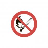 """Табличка """"Запрещено пользоваться открытым огнем"""" (280х280) У 7.2"""