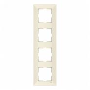 Рамка 4-я вертикальная крем MERIDIAN