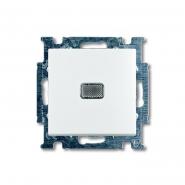 Выключатель одноклавишный встраиваемый ABB  Basic 55 белый с подсветкой