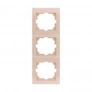 Рамка тройная вертикальная крем DERIY LEZARD