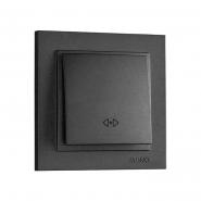 Выключатель  1кл. проходной , Mono Electric, DESPINA ( графит )
