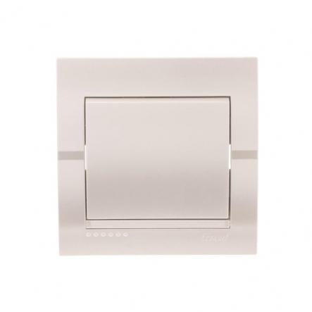 Выключатель 1-кл. жемчужно-белый металлик DERIY - 1