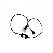 Вилка+кабель 3-х пол. акс. LED