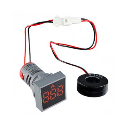 Амперметр цифровой ED16-22FAD 0-100A (красный) врезной монтаж - 1