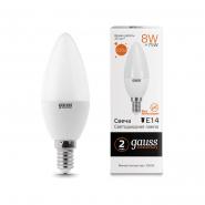 Лампа Gauss LED Elementary C37 8W E14 2700K