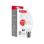 Лампа LED C37 CL-C 4W 3000K 220V E14 Maxus