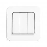 Выключатель 3кл. белый ROLLINA VIKO