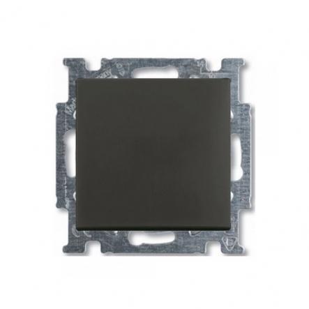 Выключатель одноклавишный чёрный шато - 1