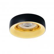 Светильник точечный Kanlux без патрона  27810 ELNIS L B/G  чёрный золото