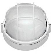 Светильник влагостойкий 100W белый круг c решеткой