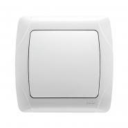 Выключатель одноклавишный белый VIKO Серия CARMEN