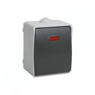 Выключатель 1кл. с подсветкой  IP54